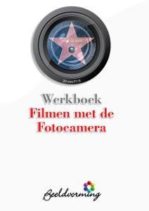 Cover werkboek Filmen met de fotocamera