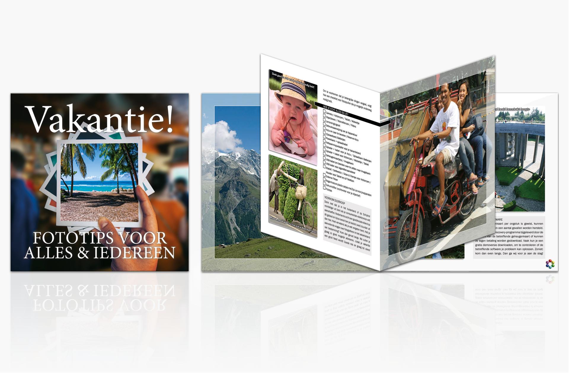 Cover  en voorbeeldpagina's van het Vakantie Magazine 2016